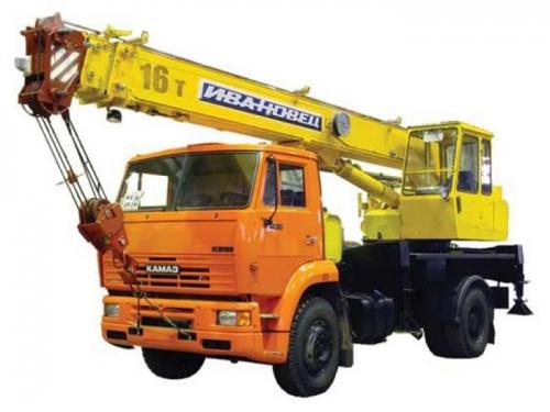 Автокран грузоподъёмностью 16 тонн с вылетом стрелы 18 метров
