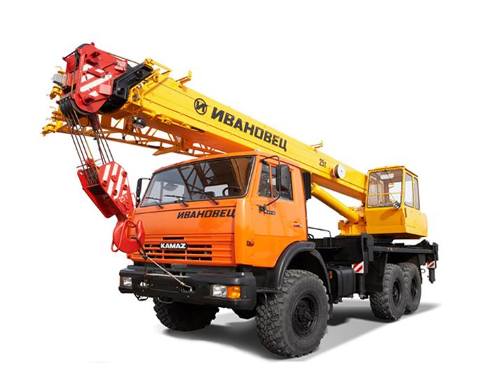 Автокран (вездеход) грузоподъёмностью 25 тонн с вылетом стрелы 28 метров
