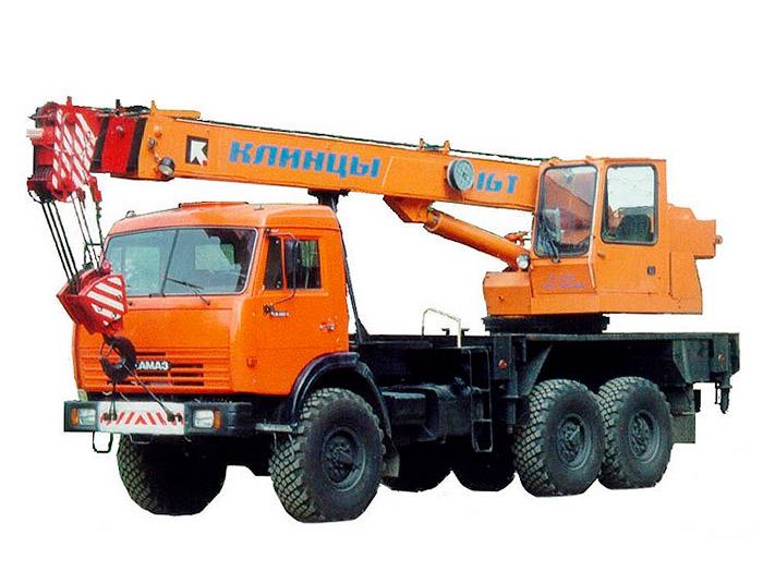 Автокран (вездеход) грузоподъёмностью 16 тонн с вылетом стрелы 23 метра