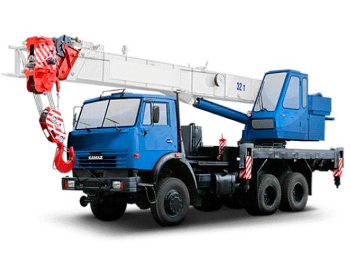 Автокран грузоподъёмностью 32 тонны с вылетом стрелы 31 метр